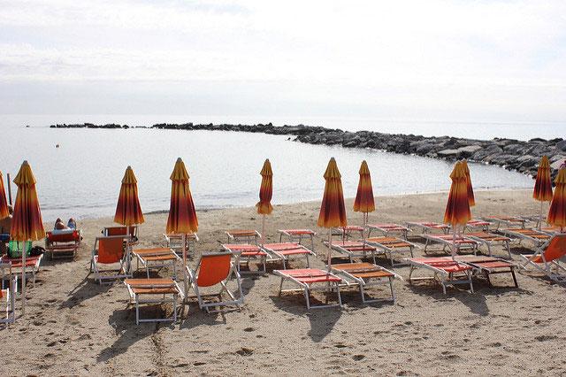Пляж в Сан-Ремо