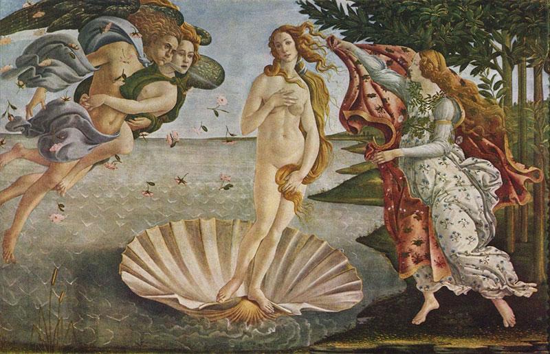 Картина Сандро Боттичелли Рождение Венеры