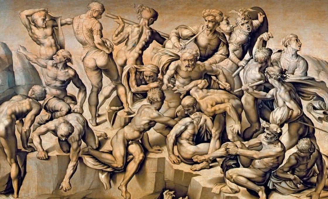 Аристотель да Сангалло копия картона Микеланджело Битва при Кашине