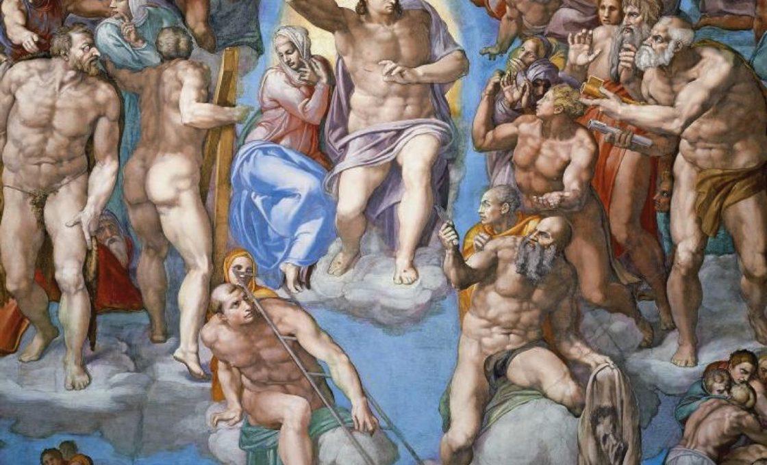 Микеланджело Страшный суд (фрагмент)