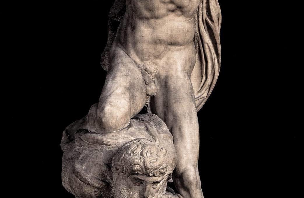 Микеланджело Победа(исследователи считают, что в этой работе Микеланджело изобразил Томмазо и себя)