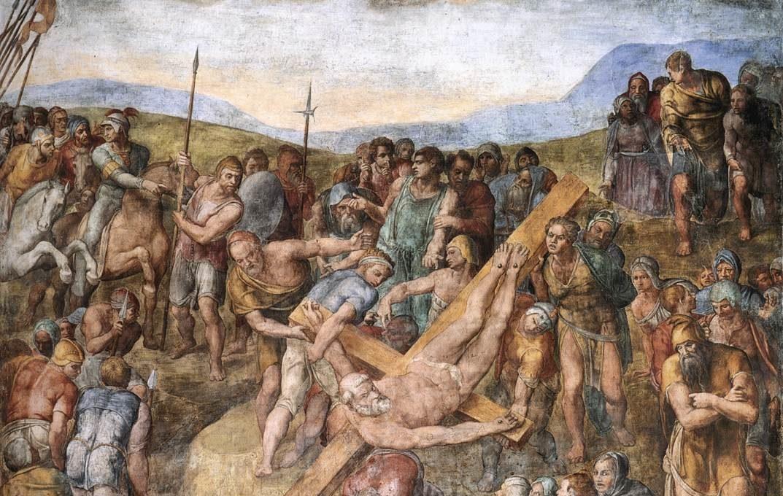 Микеланджело Распятие Святого Петра