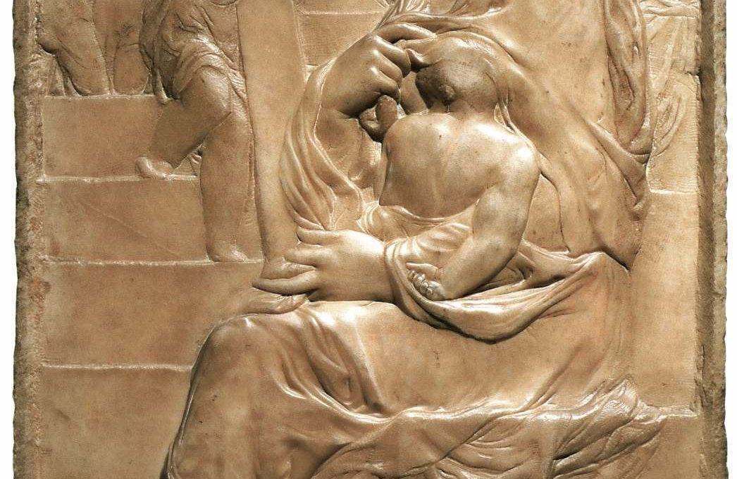 Микеланджело Мадонна у лестницы