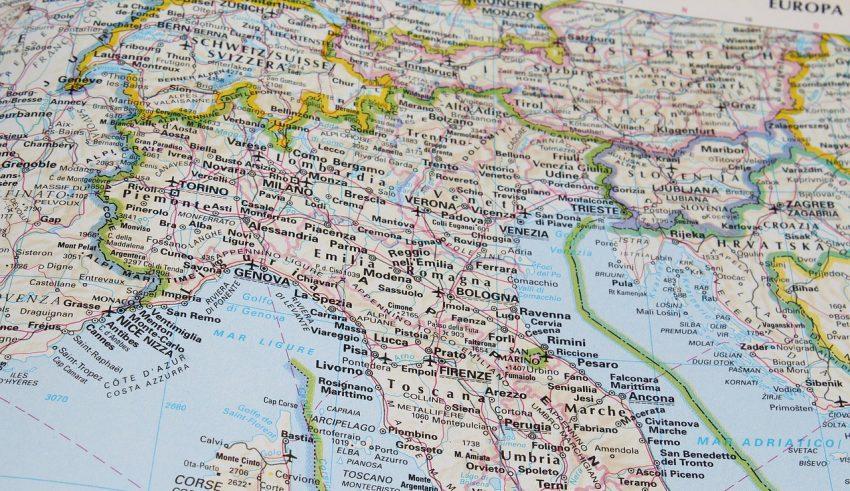 Географическое положение Италии
